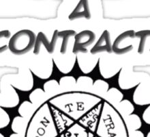contract or nah? Sticker