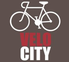 VeloCity Version 2 Red White T-Shirt