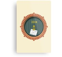 221B Bag End New Version Metal Print