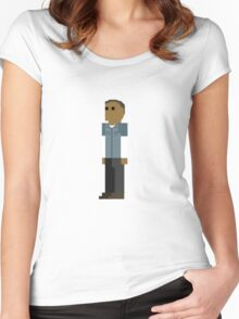 GTA V - 8-Bit Franklin Character Design Women's Fitted Scoop T-Shirt
