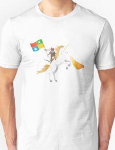 Windows 10 Ninja Cat on Unicorn T-Shirt