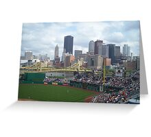 Baseball game at PNC Park Greeting Card