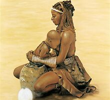 African madonna & child by Santamaria