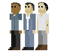 GTA V - 8-Bit Protagonists Trio Character Design by doughballdesign