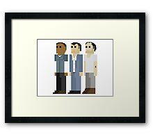 GTA V - 8-Bit Protagonists Trio Character Design Framed Print