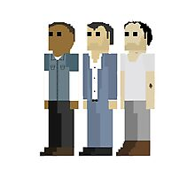 GTA V - 8-Bit Protagonists Trio Character Design Photographic Print