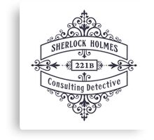 Consulting Detective (blue) Canvas Print