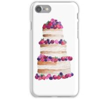 Sweet and tasty cake with berries iPhone Case/Skin