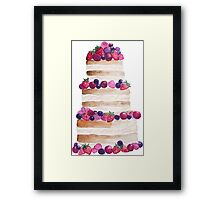 Sweet and tasty cake with berries Framed Print