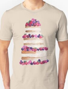 Sweet and tasty cake with berries Unisex T-Shirt