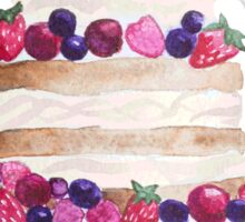 Sweet and tasty cake with berries Sticker