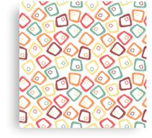 Abstract retro grunge pattern Canvas Print