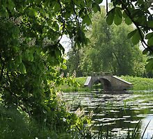 The bridge in Spring by Heather Thorsen