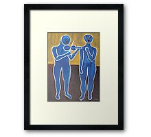VIOLIN AND VOICE Framed Print