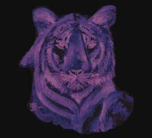 Purple tiger T SHIRT/STICKER Kids Tee