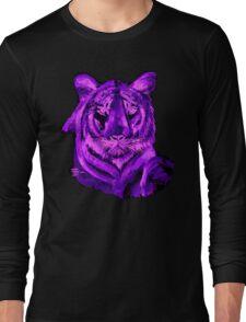 Purple tiger T SHIRT/STICKER Long Sleeve T-Shirt