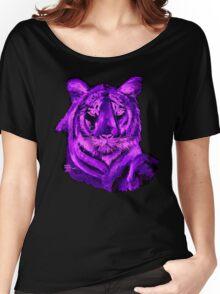 Purple tiger T SHIRT/STICKER Women's Relaxed Fit T-Shirt