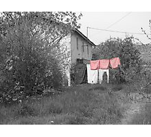Wash day at Chez Papy! Photographic Print