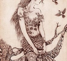 Pinecone Dryad by gingerkelly