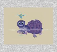 The Purple Turtle And A Bluebird Of Glee Baby Tee