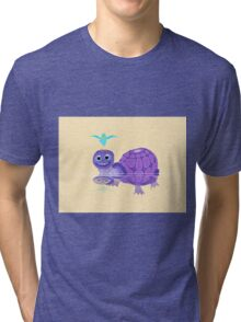 The Purple Turtle And A Bluebird Of Glee Tri-blend T-Shirt