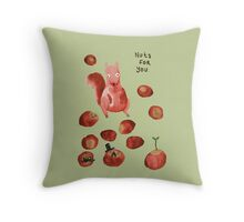 Nuts For You Throw Pillow
