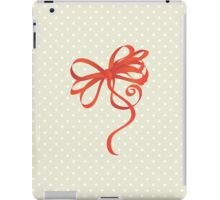 Curled Ribbon (Riband) and Bow - Red  iPad Case/Skin