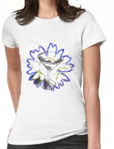 Martini Glass and Sunflower Womens Fitted T-Shirt
