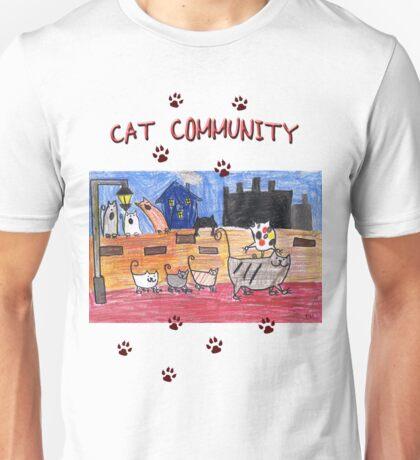 Cat community Unisex T-Shirt