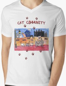 Cat community Mens V-Neck T-Shirt