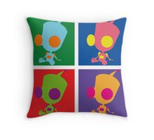 Andy Warhol style - Gir Throw Pillow