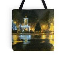 Town Square on December Night Tote Bag
