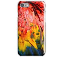 Beautiful Close-up of the Rainbow Coloured Feathers of a Scarlet Macaw iPhone Case/Skin