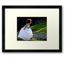 A Playful Flowergirl Framed Print