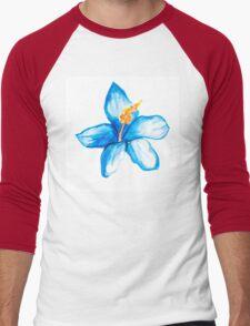 Blue hibiscus flower Men's Baseball ¾ T-Shirt