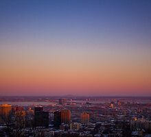 Sunset Over Montreal by FredeLemieux
