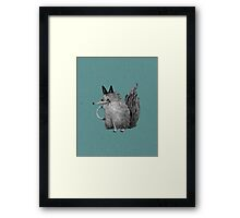 Cheeky Wolf Framed Print