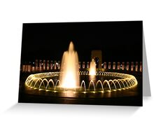 WWII Memorial in Washington DC Greeting Card