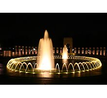 WWII Memorial in Washington DC Photographic Print