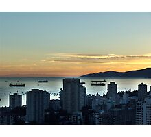 Downtown Vancouver and English Bay Photographic Print