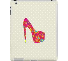 High Heel Shoe, Flowers - Red Yellow Blue  iPad Case/Skin