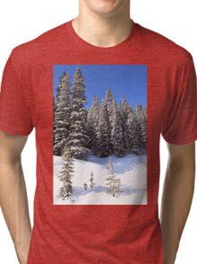 Snow Trees Tri-blend T-Shirt