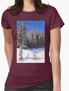 Snow Trees Womens Fitted T-Shirt