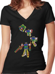 C.U.B.E Prime Women's Fitted V-Neck T-Shirt
