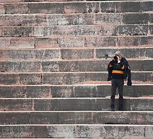 On the steps of Arena of Verona by Indrani Ghose