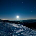 Moon Rise at Max Patch by Spencer Black
