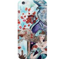 ORIENTAL FAIRY TALE / PRINCESS ,RED ROSES AND FLYING  HAWK iPhone Case/Skin