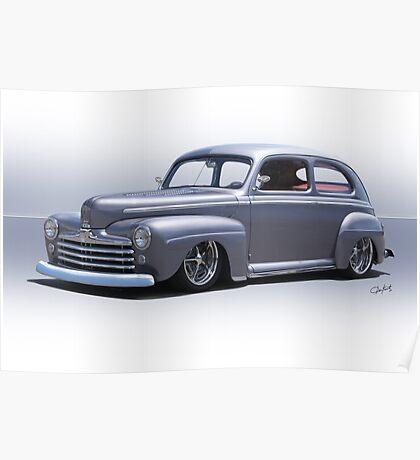 1947 Ford 'Rod and Custom' Sedan 1 Poster