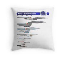 U.S.S. Enterprise Lineage Throw Pillow