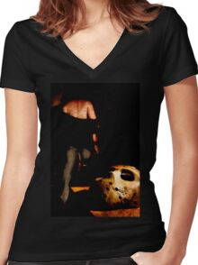 well that's that then Women's Fitted V-Neck T-Shirt